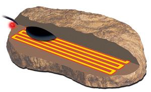 Нагреватель декоративный под камень в террариум Heat Wave Rock Medium