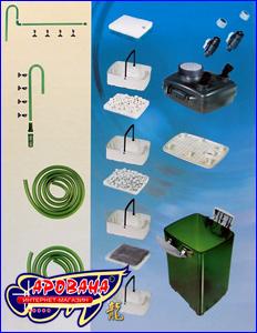 Внешний канистровый фильтр Jebo 828 для очищения воды в пресноводном или морском аквариуме.