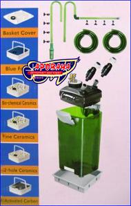 Внешний канистровый фильтр Jebo 829 для очищения воды в пресноводном или морском аквариуме.
