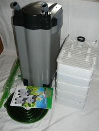 Внешний канистровый фильтр Jebo 819b для очищения воды в пресноводном или морском аквариуме.
