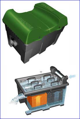 Фильтр прудовый проточный TetraPond PFC-UV 16000, для прудов и водоёмов с карпами КОИ